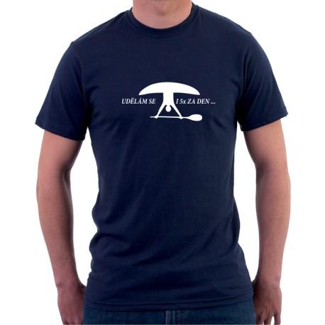 Vodácké tričko-Udělám se i 5 x za den - Pánské Tričko s vtipným potiskem