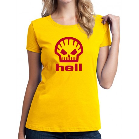Hell - Dámské Tričko s vtipným potiskem