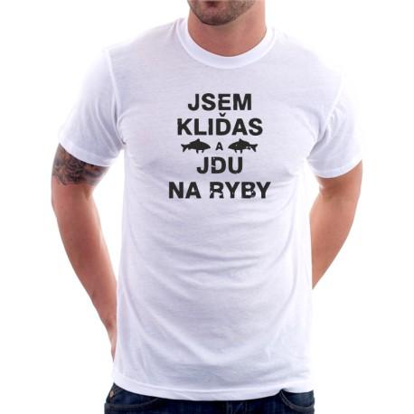 66300140cc00 Pánské rybářské tričko Jsem kliďas