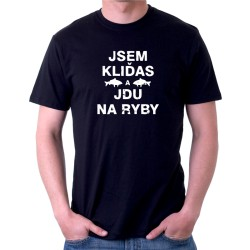 Pánské rybářské tričko Jsem kliďas, jdu na ryby. Ideální dárek pro rybáře.
