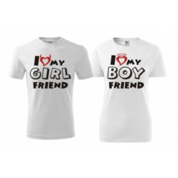 I Love my Girlfriend - Pánské Tričko s vtipným potiskem