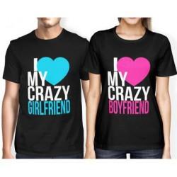 I love my crazy Girlfriend - Pánské Tričko s vtipným potiskem