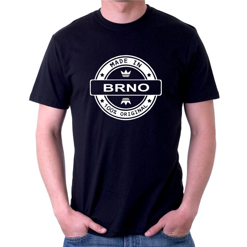 1575a2a0241 Made in BRNO - Pánské Tričko s vtipným potiskem Made in BRNO