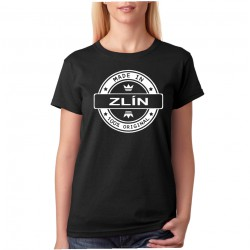 Dámské tričko s vlastním textem, názvu města Made in Vaše město