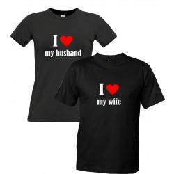I LOVE MY WIFE - Pánské Tričko s vtipným potiskem