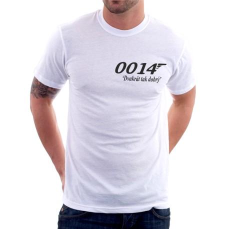 Pánské vtipné tričko 0014 Dvakrát tak dobrý, dárek pro muže