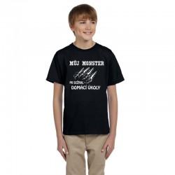 Můj MONSTER mi sežral domácí úkoly dětské tričko