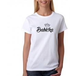 Dámské tričko s potiskem Babička s korunkou, dárek pro babičku