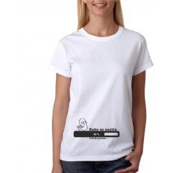 Baby se načítá, čekejte prosím - Dámské těhotenské tričko