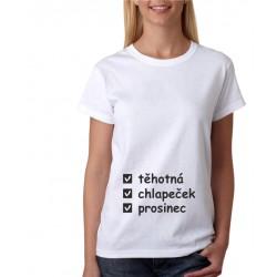 Těhotná, chlapeček, měsíc narození - Dámské těhotenské tričko