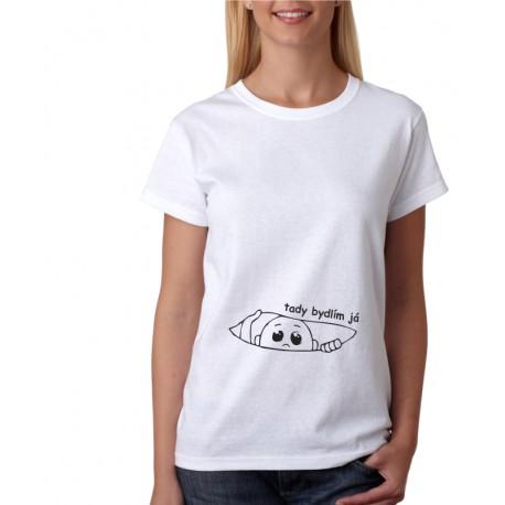 Tady bydlím já - Dámské těhotenské tričko
