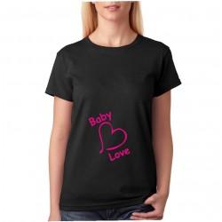 Baby Love - Dámské těhotenské tričko pro nastávající maminky