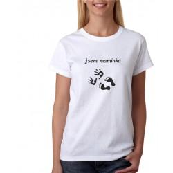Dámské tričko s potiskem Jsem maminka