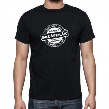 Pánské tričko - 100 % Pravej Brušperák narozený v Brušperku