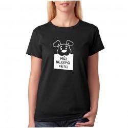 Můj nejlepší přítel - Dámské tričko s motivem pro pejskaře