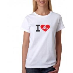 Dámské tričko s potiskem tématiky o hasičích - I Love Hasiče
