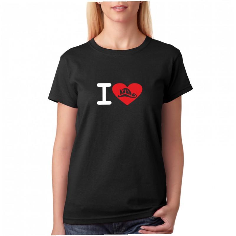 960452109a0 ... I Love Hasiče - Dámské tričko s tématikou o hasičích ...