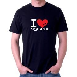 I Love Squash - Pánské tričko s motivem o squashi