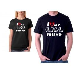 I Love my GIRLFRIEND - Pánské párové tričko pro zamilované páry