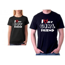 I Love my GIRLFRIEND - Pánské párové tričko pro zamilované.