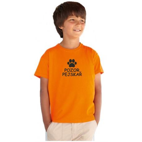 Pozor Pejskař - Dětské tričko s motivem o pejscích