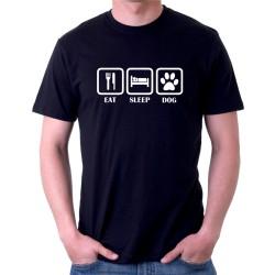 Eat Sleep Dog - Pánské tričko s vtipným potiskem