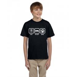 Eat Sleep Dog - Dětské tričko s vtipným motivem