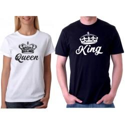 Sada triček King a Queen s korunkou
