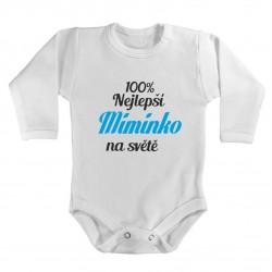 Kojenecké body s potiskem 100% nejlepší miminko na světě.