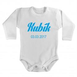 Kojenecké body s jménem a datumem narození vašeho miminka. Dětské body s vlastním Jménem a datumem narození vašeho miminka.