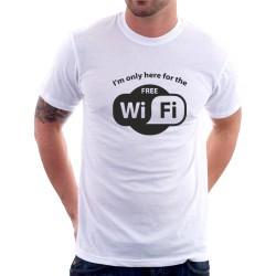 I am only here for the Free WiFi - Pánské tričko s vtipným potiskem