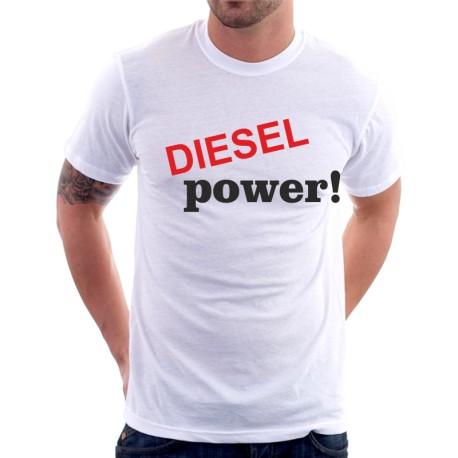DIESEL power!- Pánské tričko s vtipným potiskem