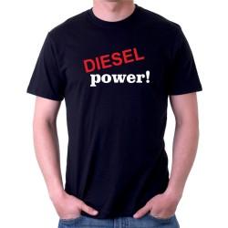 DIESEL power! - Pánské tričko s vtipným potiskem