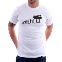 """Vtipné tričko s potiskem """"evoluce automechanik"""""""