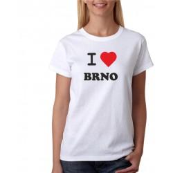 I love Brno - Dámské tričko pro ženy z Brna