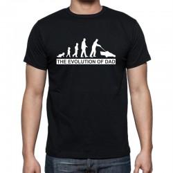 Pánské tričko s vtipným potiskem evoluce tatínka, The evolution of dad
