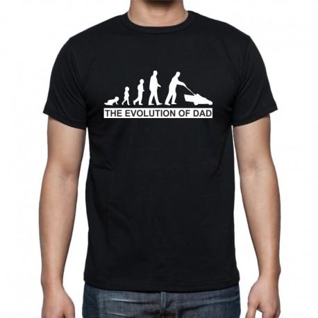 The Evolution of Dad - Pánské Tričko s vtipným potiskem