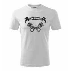 The Machanic - vtipné pánské tričko pro auto mechaniky s válcy