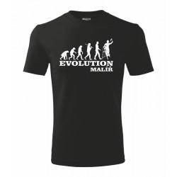 Pánské tričko evoluce malíře