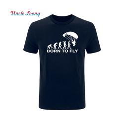 Born to Fly - Pánské tričko s motivem evoluce paraglaidingu