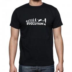 Pánské tričko s vtipným potiskem Evoluce potápěče