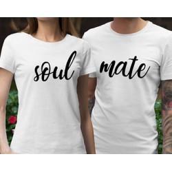 Trička pro páry s potiskem Soul  / Mate. dárek k valentýnu