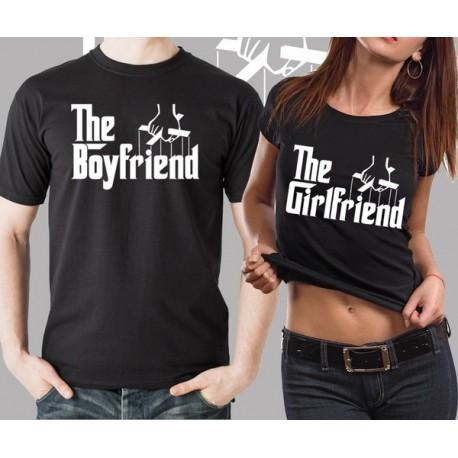 Trička pro páry The Boyfriend / The Girlfriend