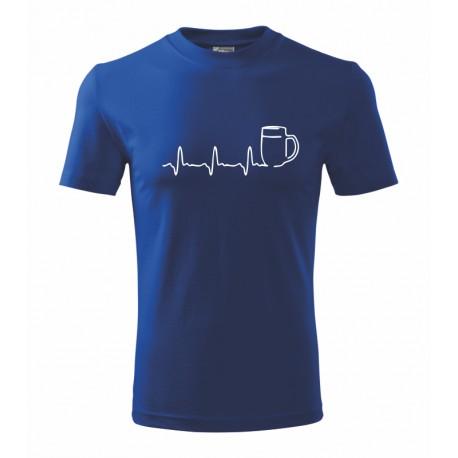 Pánské tričko s vtipným potiskem pivní křivky. Dárek pro muže.