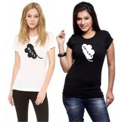 Friends - Dámské tričko s potiskem Friends s potiskem ze předu