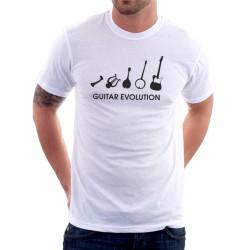 Pánské tričko s vtipným potiskem evoluce kytaristy. Dárek pro hráče na kytaru