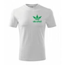 Alcohol - Pánské dárkové tričko s vtipným potiskem Alcohol