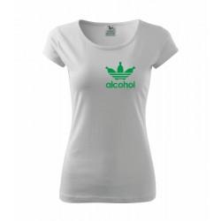 Alcohol - Dámské tričko s anglickým potiskem Alcohol