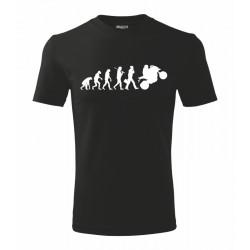Pánské tričko evoluce motorkáře