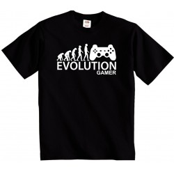 Evolution Gamer - Pánské tričko evoluce Hráče